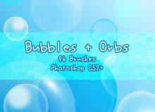 半透明泡泡、气泡、水泡等PS笔刷素材下载