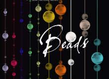 珠珠挂链、珠子挂帘效果PS装饰笔刷