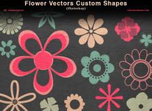 各种印花、鲜花图案photoshop自定义形状素材 .csh 下载