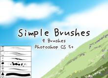 9种插画艺术手绘笔刷Photoshop素材下载
