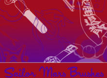 美少女战士元素Photoshop卡通笔刷素材
