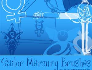 魔法美少女战士装扮元素PS笔刷素材下载