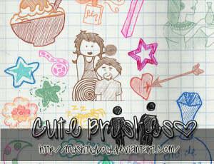 可爱的童趣生活涂鸦图形Photoshop美图笔刷