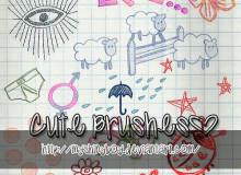 卡哇伊童趣涂鸦Photoshop美图照片装饰笔刷