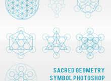 神圣的几何图形组合形状PS笔刷素材下载