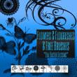 漂亮的植物和蝴蝶花纹图案PS笔刷素材下载