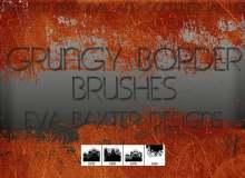 铁板生锈纹理、废土风格工业、工厂效果Photoshop笔刷素材下载