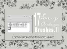 17种漂亮的小清新印花图案Photoshop笔刷素材下载