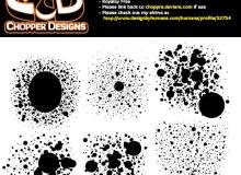 油漆、水墨、水彩、油墨滴溅效果斑点纹理PS笔刷素材下载