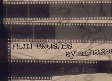 电影老胶片、相片胶卷素材Photoshop笔刷素材下载