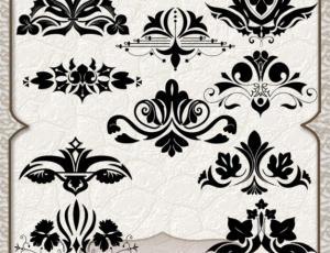 欧式贵族式植物印花图案Photoshop优美印花笔刷