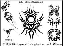 神秘宗教仪式类纹饰、刺青图案Photoshop纹身笔刷