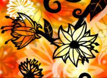 漂亮的手绘鲜花花朵图案Photoshop免费笔刷素材下载
