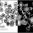 手绘艺术鲜花花朵图案Photoshop复古花纹笔刷