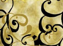 手绘漩涡花纹装饰图案PS笔刷素材