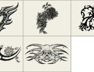 非主流时尚纹饰刺青图案Photoshop笔刷素材下载