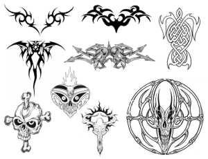 超酷欧美式纹饰、纹身、刺青图案Photoshop笔刷素材下载