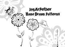 手绘鲜花花朵图案Photoshop印花笔刷