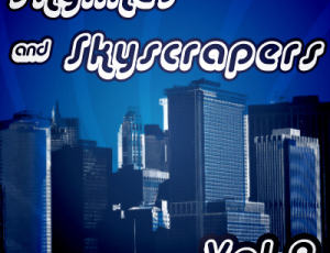 摩登城市掠影、都市剪影Photoshop笔刷素材下载