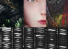高级CG绘画创作笔刷素材包Photoshop素材免费下载(含.tpl工具)