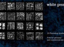 20种石膏纹理、材质表面PS笔刷素材下载