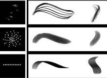毛发、绒毛、软毛纹理手绘Photoshop笔刷素材