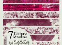 7种纹理材质青草、油漆飞溅、水泥墙壁、砖石纹理等PS笔刷素材下载