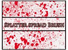 飞溅油漆、血水、血滴效果PS笔刷素材下载