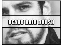 络腮胡子、浓密的毛发PS笔刷素材