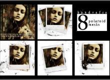 8种拍立得相框、照片边框图案PS笔刷素材下载