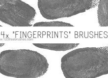 真实的按指纹痕迹、血指纹指印Photoshop笔刷素材下载