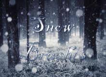 雪花、下雪场景、漫天大雪背景PS笔刷素材