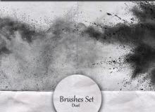 爆炸性的灰尘效果、喷漆喷溅效果Photoshop笔刷下载