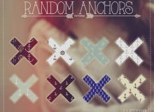 可爱小清新船锚、海航标志背景Photoshop填充图案底纹素材 Patterns 下载