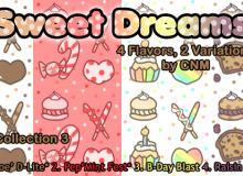 可爱甜品蛋糕图像Photoshop图案底纹素材.pat