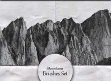 大山、山脉、山峰素材PS笔刷下载