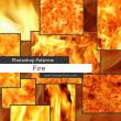 真实的火焰燃烧、灼烧、热焰效果Photoshop自定义填充素材笔刷下载