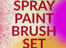 高分辨率的喷漆涂料画笔PS笔刷素材下载