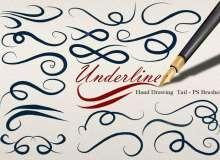 20种漂亮的手绘线条艺术花纹组合图案装饰PS笔刷素材下载