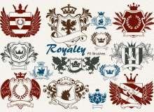 20种皇室徽章、贵族纹章图案Photoshop徽章笔刷素材下载