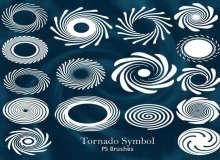 20种漩涡花纹图案、漩涡纹理印花PS笔刷素材下载