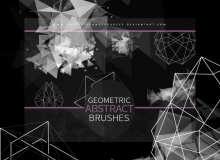 时尚元素几何图形装饰PS背景笔刷素材下载
