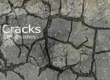 20种地面干涸、开裂、龟裂纹理PS笔刷素材下载