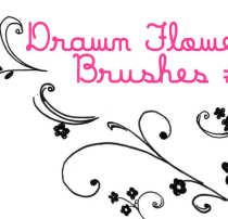 简单的艺术手绘花纹图案Photoshop印花素材笔刷