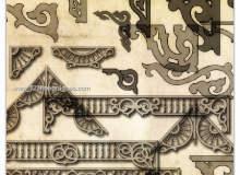 艺术装饰性花纹边角图案PS笔刷素材下载