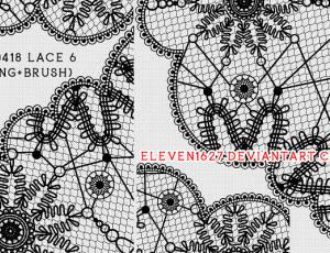 漂亮的蕾丝边花纹图案装饰Photoshop笔刷素材下载