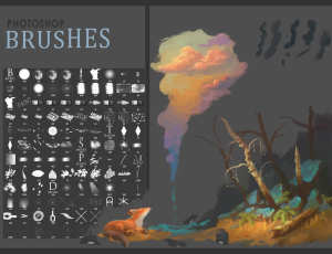 超级CG艺术创作绘画笔刷素材PS画笔免费下载