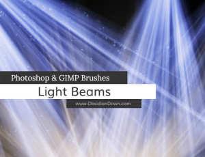 光影照射效果、阳光直射、灯光投影PS光照笔刷素材