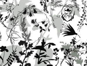 植物树枝剪影造型图案Photoshop笔刷素材下载