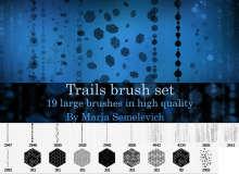 19种高品质科技感背景纹理效果PS笔刷素材下载